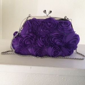 Sculptured Rose Expressions NYC Purple Small Bag